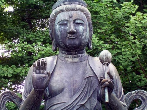 Statue of Guanyin at Sensoji Temple.